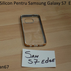 Husa Silicon Pentru Samsung Galaxy S7 Edge Auriu - Husa Telefon