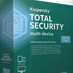 Antivirus Kaspersky 2016- 3 CALCULATOARE 11 LUNI- Total Security Multi-Device, Download, OEM, Numar licente: 1