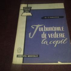 XXX C PARAIPAN - TULBURARILE DE VEDERE LA COPIL - Carte Oftalmologie