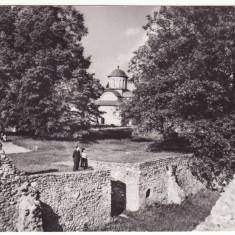 R.P.R. - Curtea de Arges -Biserica domneasca si ruinele palatului domnesc [1964], Circulata, Fotografie
