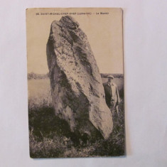 CY - Ilustrata SAINT MICHEL CHEF CHEF La Menhir 1927 Franta circulata