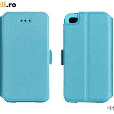 Husa LG K4 K130 Flip Case Inchidere Magnetica Blue - Husa Telefon LG, Albastru, Cu clapeta, Toc