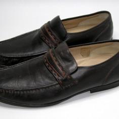 Pantofi barbati marca Hush Puppies interior exterior piele marimea 46 (P568_1) - Pantof barbat Hush Puppies, Piele naturala, Maro