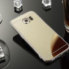 Husa Samsung Galaxy S7 Edge TPU Mirror Gold - Husa Telefon Samsung, Auriu, Gel TPU, Fara snur, Carcasa