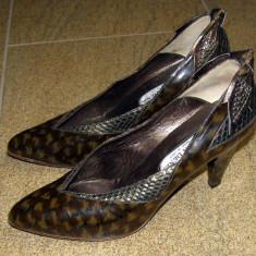 Pantofi dama marca Moda Denis interior si talpa piele marimea 37 (P254_1) - Pantof dama, Cu talpa joasa