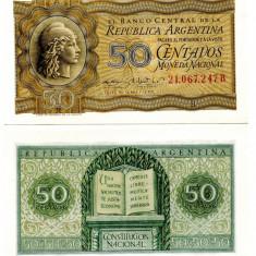 ARGENTINA 50 centavos 1952-56 - UNC - bancnota america