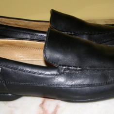 Pantofi barbati marca Clarks interior exterior piele marimea 10 1/2( echivalent 46 european) (P343_1), Piele naturala, Negru