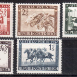 AUSTRIA 1946, Fauna - Cai, Sport -Hipism, serie neuzata, MNH, Nestampilat