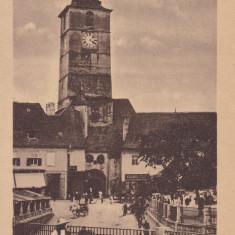SIBIU, TURNUL SFATULUI - Carte Postala Transilvania dupa 1918, Necirculata, Printata