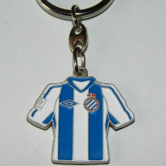 Breloc metalic fotbal - RCD ESPANYOL BARCELONA