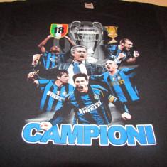 TrIcou fotbal din bumbac - INTERNAZIONALE MILANO - Tricou echipa fotbal, Marime: XL, Culoare: Din imagine, De club, Maneca scurta