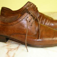 Pantofi barbati marca Manz interior exterior piele marimea marimea 8 ( echivalent 42 european ) (P465_1), Piele naturala, Maro