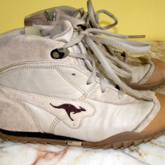Adidas marca Kangaroos exterior partial piele marimea 35 (Q204_1) - Ghete barbati
