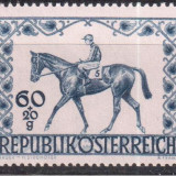 AUSTRIA 1947, Fauna - Cai, serie neuzata, MNH, Sport, Nestampilat