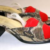Papuci dama marca Andrea Conti interior exterior si talpa piele marimea 37 (P544_1)