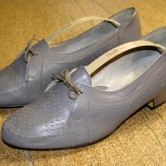 Pantofi dama marca Rakete interior exterior piele marimea 40 (P120_1) - Pantof dama, Cu talpa joasa