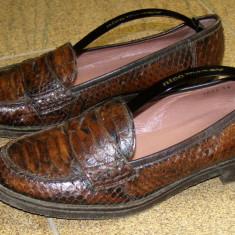 Pantofi dama marca Janet&Janet exterior piele sarpe interior piele marimea 39 (P247_1) - Pantof dama