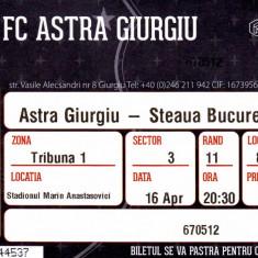 Bilet meci fotbal ASTRA GIURGIU - STEAUA BUCURESTI 16.04.2016