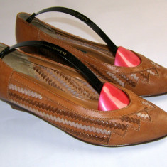 Pantofi dama marca Samantha Moda exterior piele marimea 39 (P531_1) - Pantof dama, Cu talpa joasa