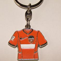 Breloc metalic fotbal - VALENCIA CF