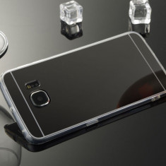 Husa Samsung Galaxy S7 Edge TPU Mirror Black, Negru, Gel TPU