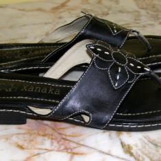 Papuci marca Xanaka interior exterior piele marimea 40 (Q142_1) - Papuci dama