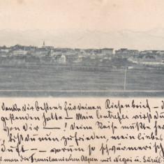 SIBIU, SALUTARI DIN SIBIU, VEDERE GENERALA, ED. G. A. SERAPHIN CIRC. IAN. *99 - Carte Postala Transilvania pana la 1904, Circulata, Printata