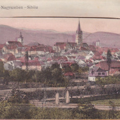SIBIU, VEDERE GENERALA, LEPORELLO( 10 IMAGINI SIBIU), EDITURA F. STOIBER - Carte Postala Transilvania dupa 1918, Necirculata, Printata