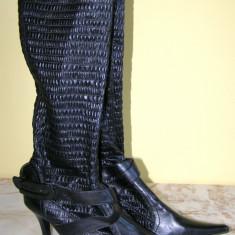 Cizme manusa de dama marca Funky Shoes marimea 40 (Q273_1) - Cizma dama, Negru