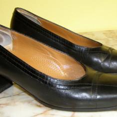 Pantofi dama marca Franca L'artigiana interior exterior piele marimea 36 (P405_1) - Pantof dama, Cu talpa joasa