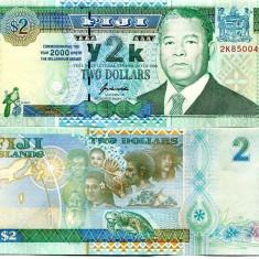 FIJI 2 dollars 2000 COMEMORATIVA UNC