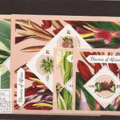 Gambia - flori Africa - 2013 seria - Timbre straine, Natura, Nestampilat