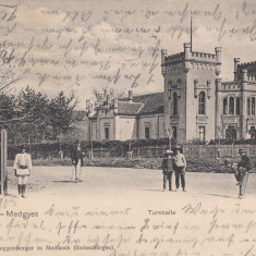 MEDIAS, TURNHALLE, CLASICA, CIRCULATA OKT. 1905, STARE BUNA - Carte Postala Transilvania pana la 1904, Printata