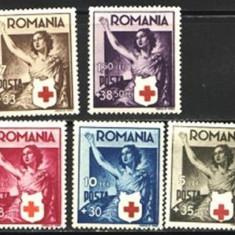 Romania 1941 - CRUCEA ROSIE I, serie nestampilata F131