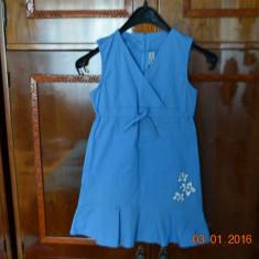 Rochita albastra cu 3 flori, Marime: Alta, Culoare: Albastru