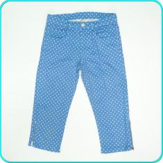 DE FIRMA _ Pantaloni ¾, bumbac + elastan, H&M _ fete | 12 - 13 ani | 158, Marime: Alta, Culoare: Albastru