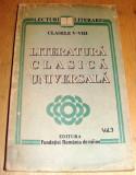 Literatura Clasica Universala - clasele V-VIII / Vol. 3