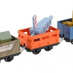 Set Thomas And Friends Trackmaster Dockside Delivery Crane Cargo And Cars - Trenulet Mattel
