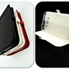 Husa FlipCover Stand Magnet Allview V2 Viper X ALB, Plastic, Cu clapeta