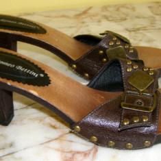 Papuci/saboti marca Romeo Bettini interior piele marimea 38 (Q30_1) - Papuci dama, Culoare: Din imagine