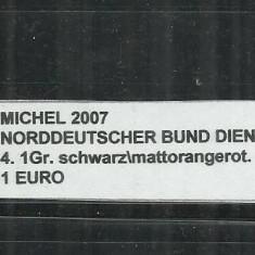 NORDDEUTSCHER BUND DIENSTMARKEN 1870 - 4.1 Gr - MICHEL 2007, Stampilat