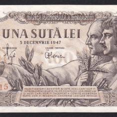2. ROMANIA, 100 LEI 5 DECEMBRIE 1947, UNC - Bancnota romaneasca