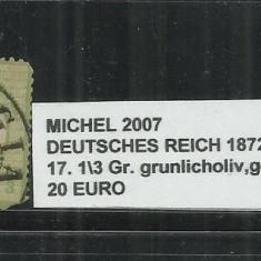 DEUTSCHES REICH 1872 - 17.1/3 - MICHEL 2007, Stampilat