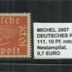 DEUTSCHES REICH 1919-20 - 111.10Pf - MICHEL 2007, Stampilat