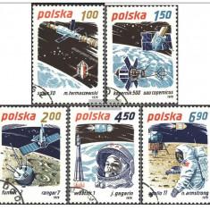 POLONIA 1979 - COSMOS, AERONAUTICA - COLITA +SERIE COMPLETA STAMPILATA - Timbre straine