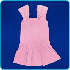 FOARTE FRUMOS _ Sarafan din catifea fina, croi deosebit _ fete | 5 - 6 ani | 116, Marime: Alta, Culoare: Roz