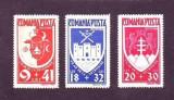 Romania 1942 – UN AN BUCOVINA, serie nestampilata cu SARNIERA, R7