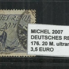 DEUTSCHES REICH 1921 - 176.20M - MICHEL 2007, Stampilat