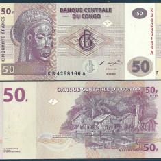 CONGO 50 FRANCI FRANCS 2007 UNC [1] P-97a, necirculata - bancnota africa