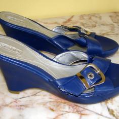 Papuci cu toc marca Taxi marimea 41 (Q89_1) - Papuci dama, Culoare: Albastru